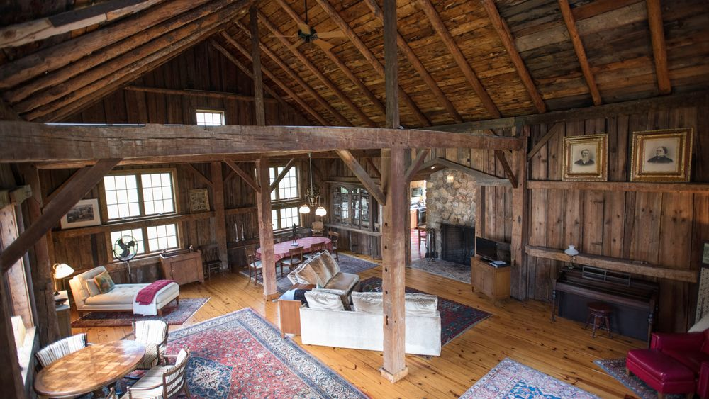 Barn configured for overnight home rental. (Victoria Boucher Photography)