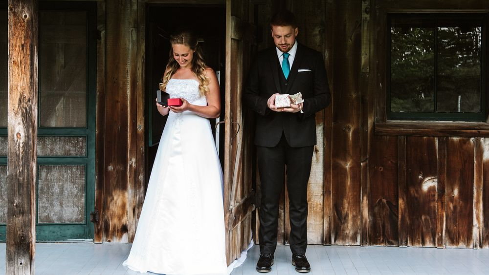 First Look. (Kelsey Gene Photography)