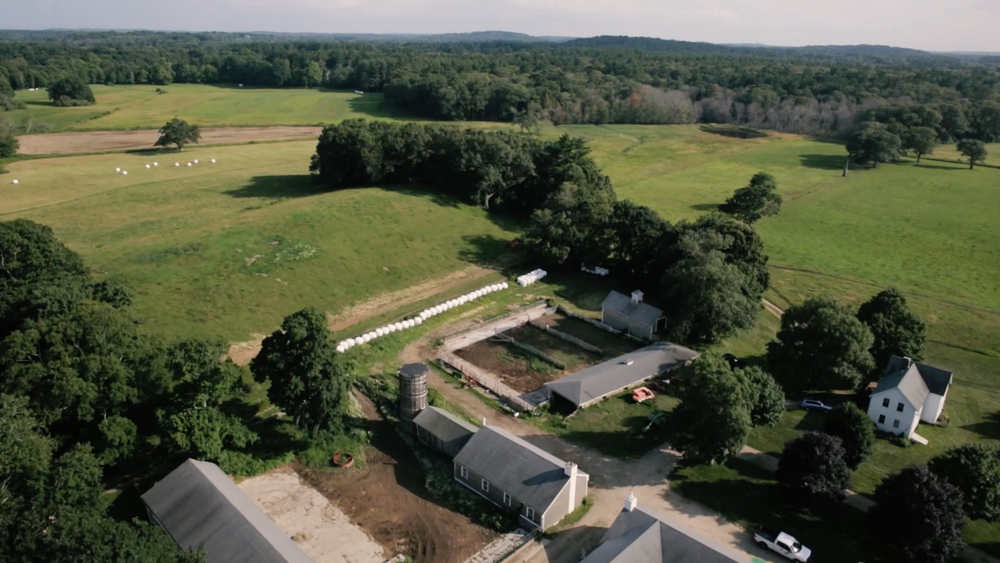 Aerial view of the Appleton Farms property
