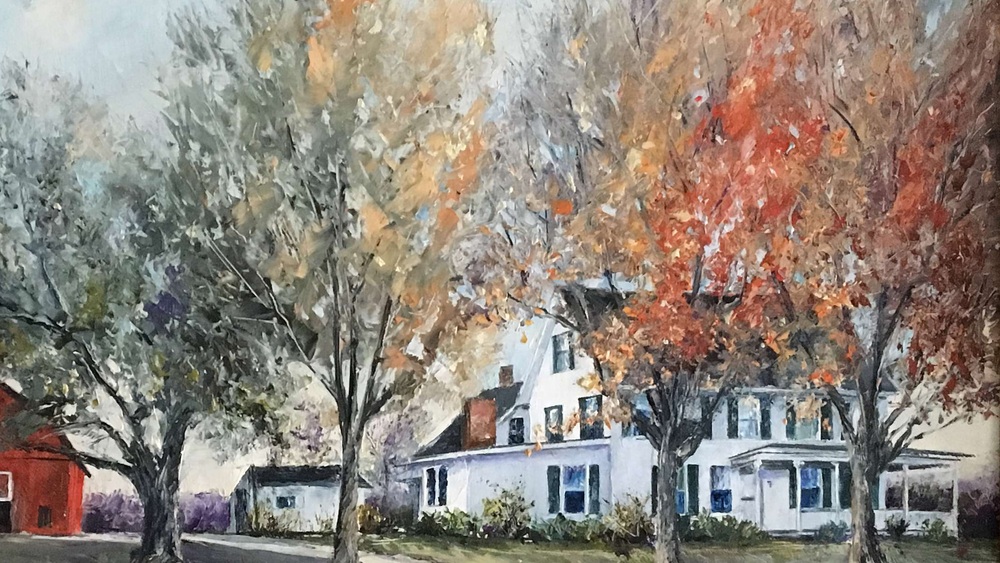 The Duff Farmhouse at Holiday Hill - Painting by Rev. Dr. J. Garland Waggoner