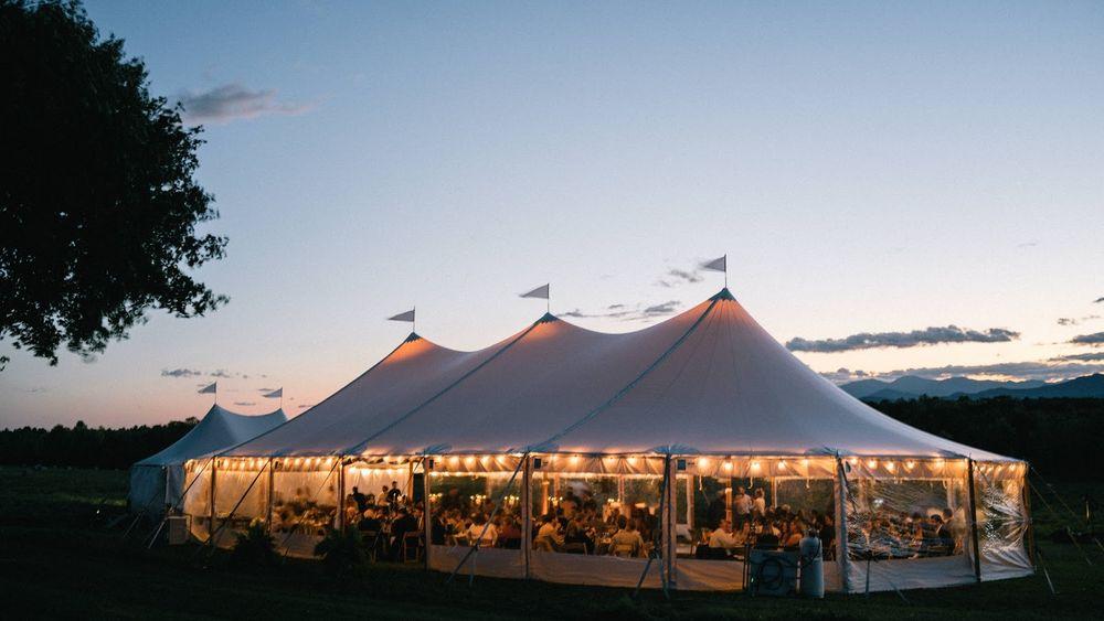 Tent with Mountains (Michael Tallman Photo)