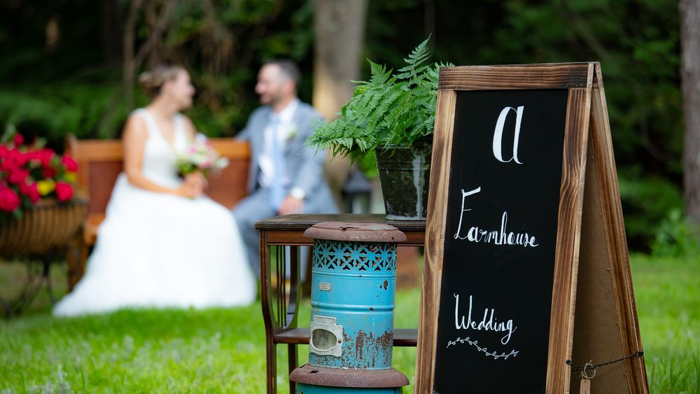 Nothing better then a New England farmhouse wedding.