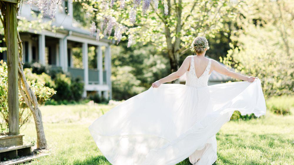 Bride in the Backyard