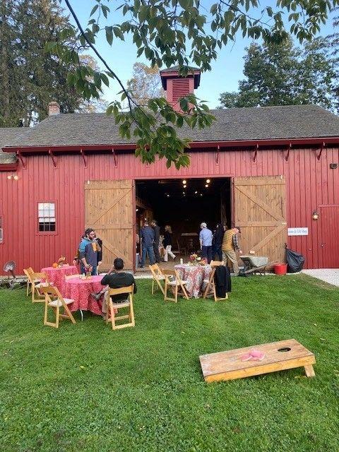 Small birthday party rental of barn, October 2021
