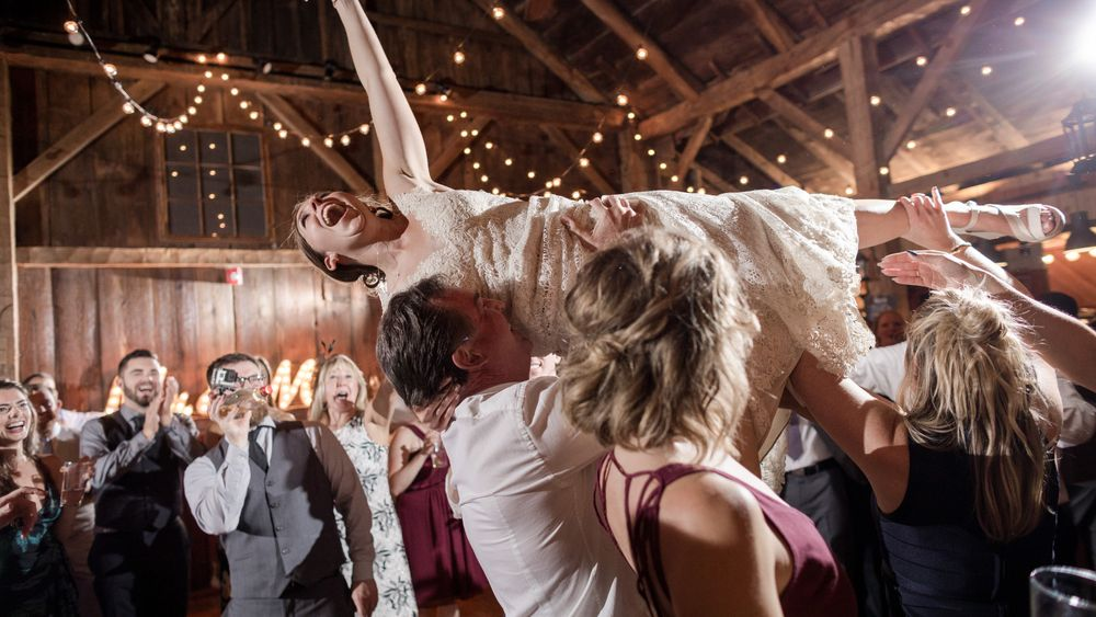 Ultimate excitement on the dance floor! photo credit: Stina Booth Photography