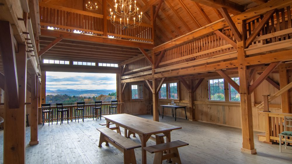 View on main floor overlooking mountains.  (Mountain Brothers Media)