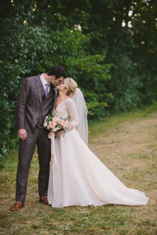 Kelsey and Joe Kissing