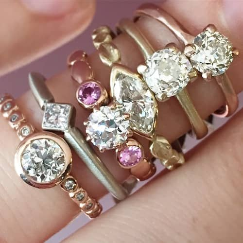 Hand with Engagment Rings