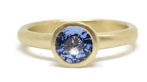 Modern Periwinkle Yellow Engagement Ring