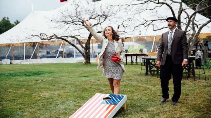 Lawn Games at Wedding Reception