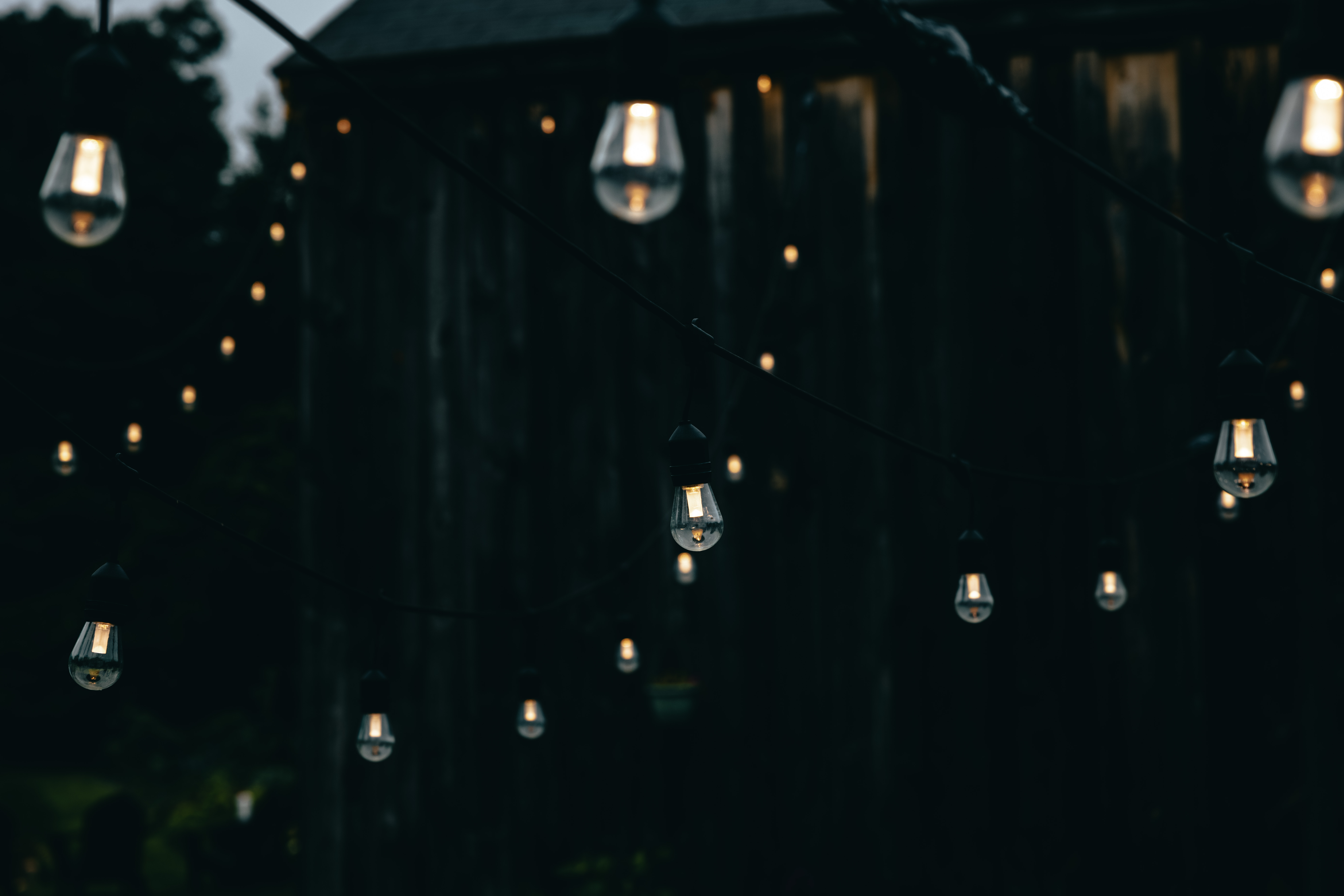 Bistro Lights and Twinkle Light Canopies